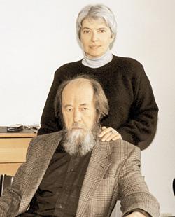 солженицын с женой