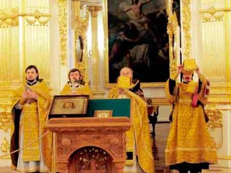 Эрмитаж, храм, собор,  освящение, православие, религия, богослужение