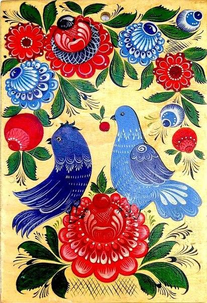 Как рисовать цветы в городецкой росписи - Разумники