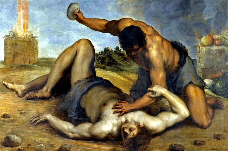 Cain Slaying Abel by Jacopo Palma